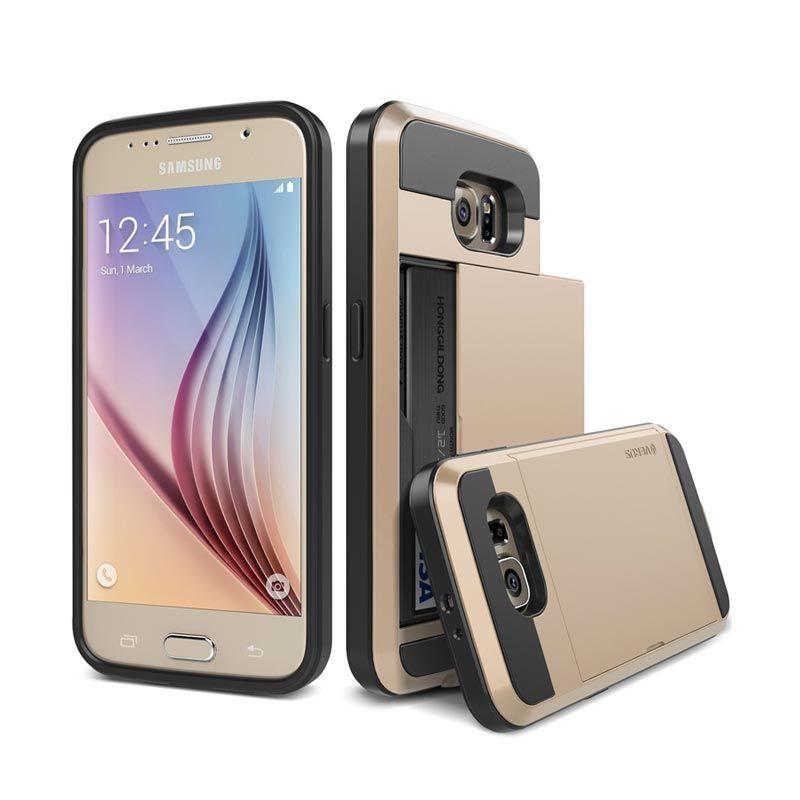 VERUS Damda Slide Shine Gold Casing for Galaxy S6