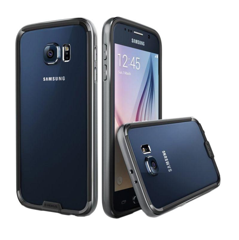 Verus Iron Hitam Silver Bumper Casing for Samsung S6