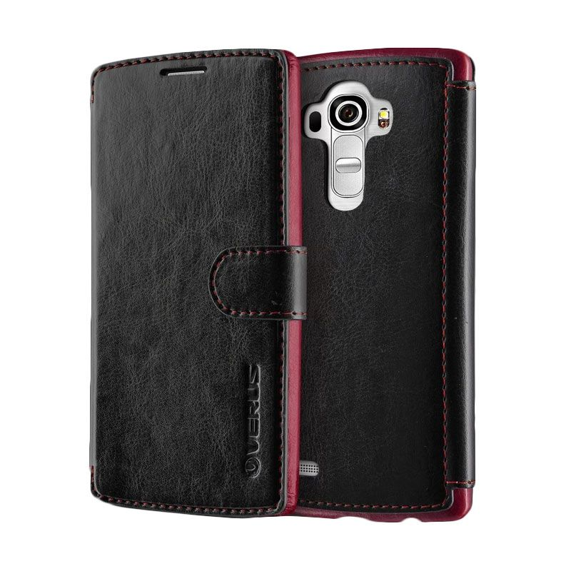 Verus Leather Dandy Layered Hitam Casing for LG G4