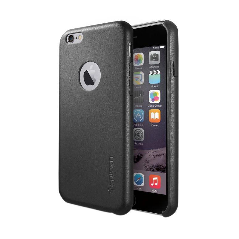 Spigen Leather Fit Black Casing for iPhone 6