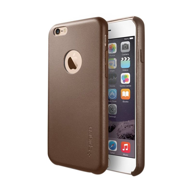 Spigen Leather Fit Brown Casing for iPhone 6
