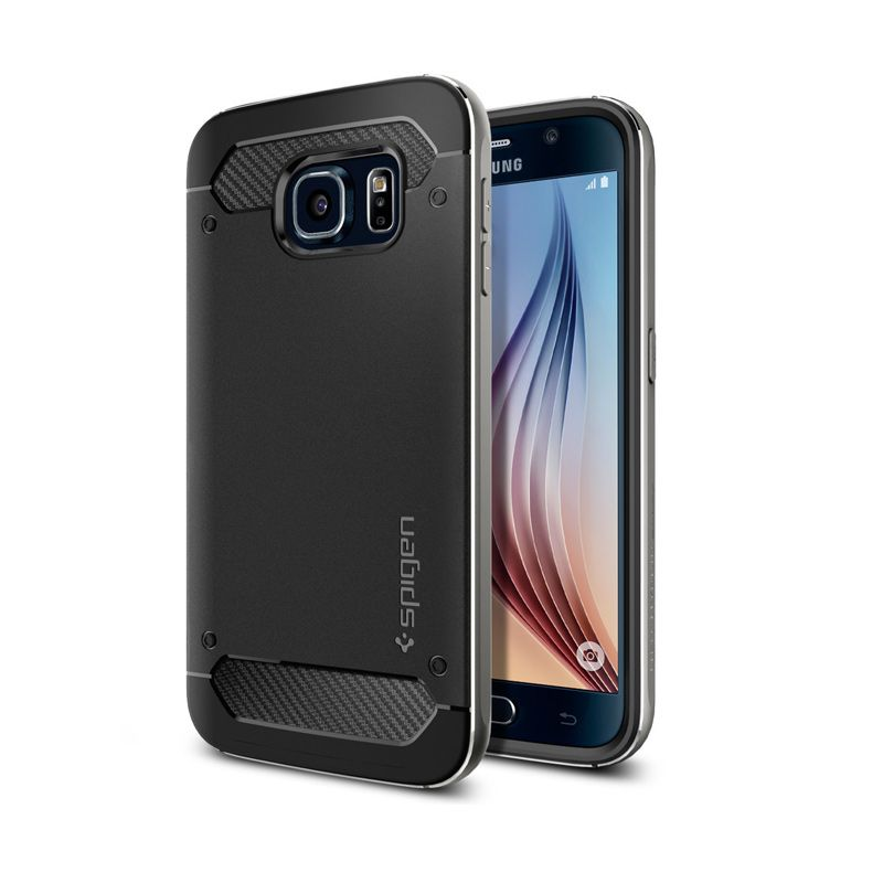Spigen Neo Hybrid Metal Gunmetal Casing for Galaxy S6