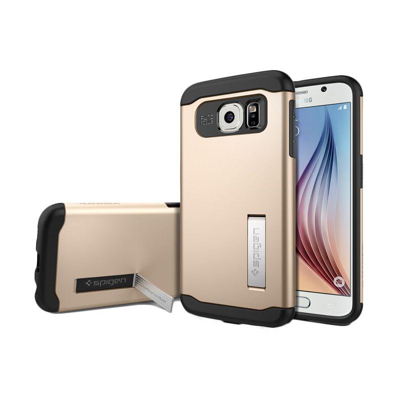 Spigen Slim Armor Gold Casing for Galaxy S6