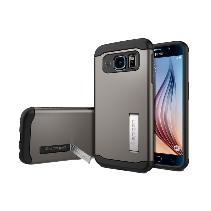 Spigen Slim Armor Gunmetal Casing for Galaxy S6