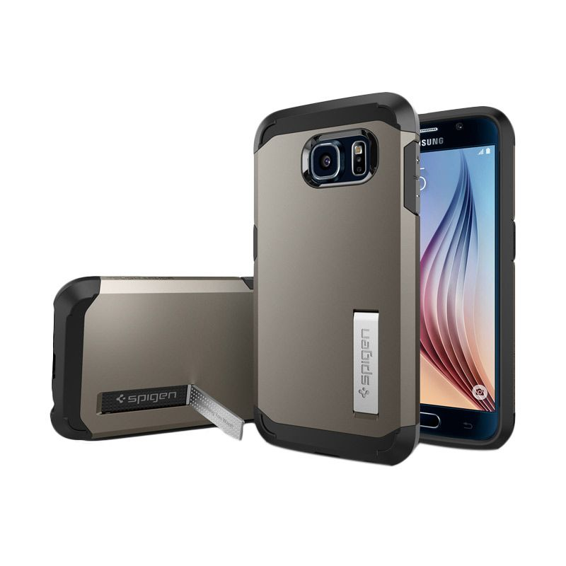 Spigen Tough Armor Gunmetal Casing for Galaxy S6
