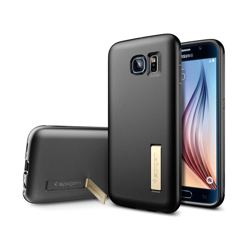 Spigen Ultra Capsule Solid Black Casing for Galaxy S6
