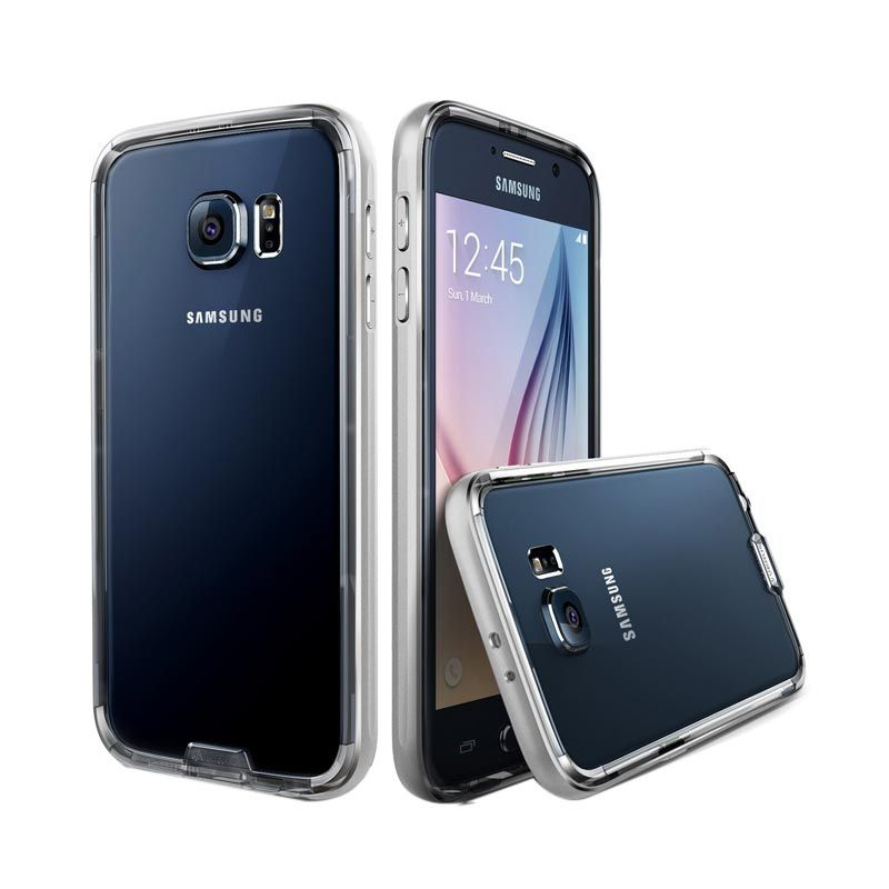 Verus Iron Bumper Satin Silver Casing for Galaxy S6