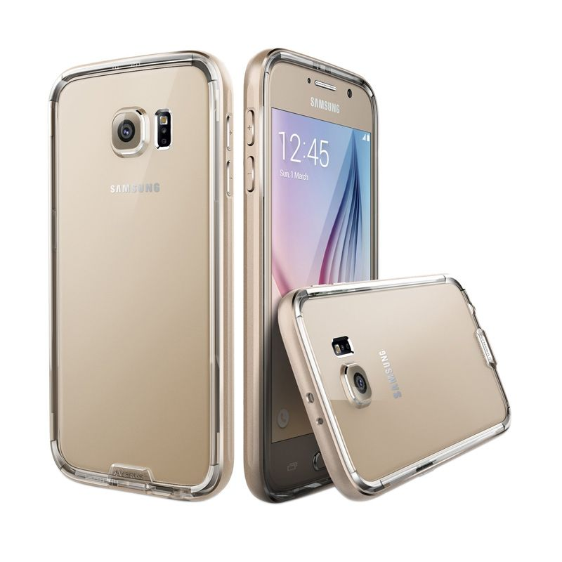 Verus Verge Iron Bumper Champagne Gold Casing for Galaxy S6