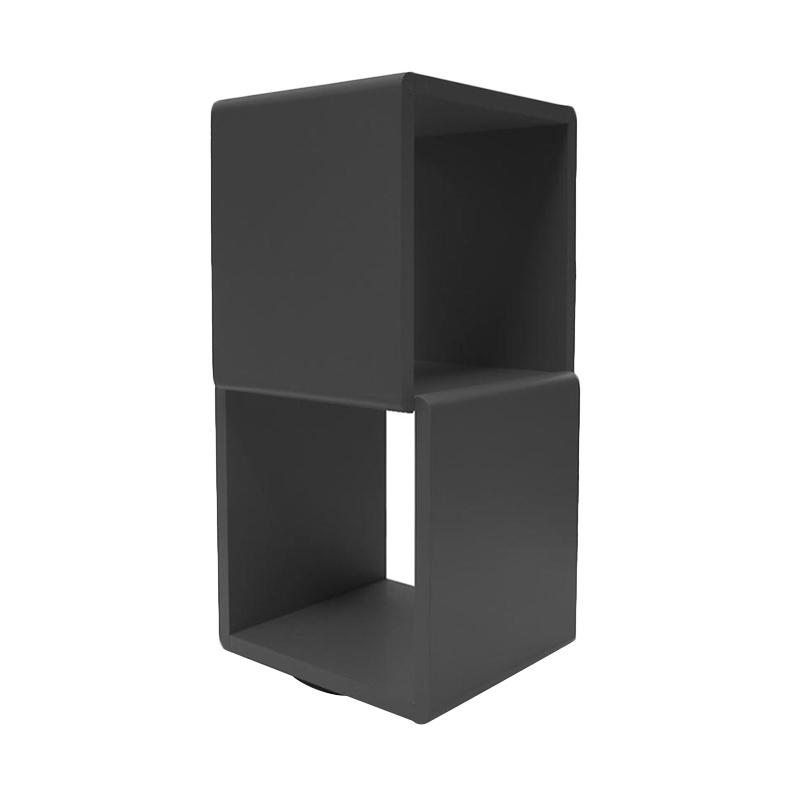 Prissilia Cube 2 Space Black Rak Pajangan
