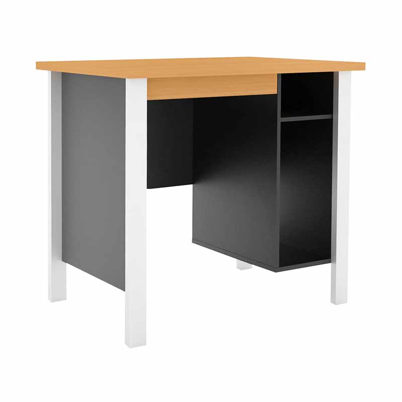 Prissilia Computer Desk Mortred with ironfeet Meja Komputer - Beech