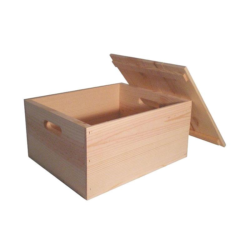 Prissilia Machop Pine Box - Brown Cream
