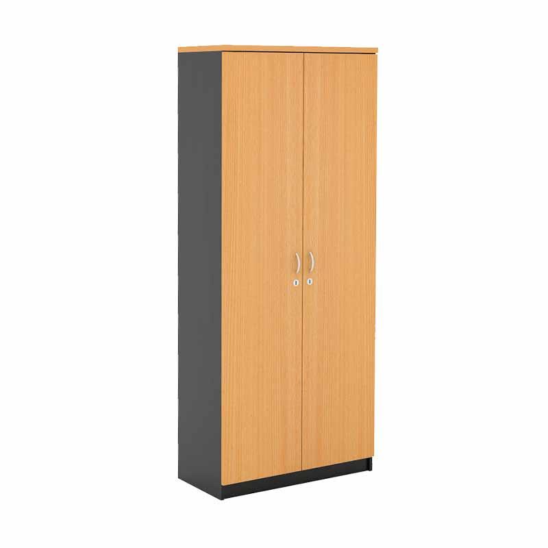 Prissilia Mortred Bookcase with Bigdoor Rak Buku - Beech