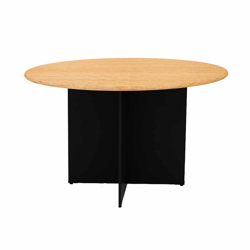 Prissilia Necro Round Table 100 Beech Meja Kantor
