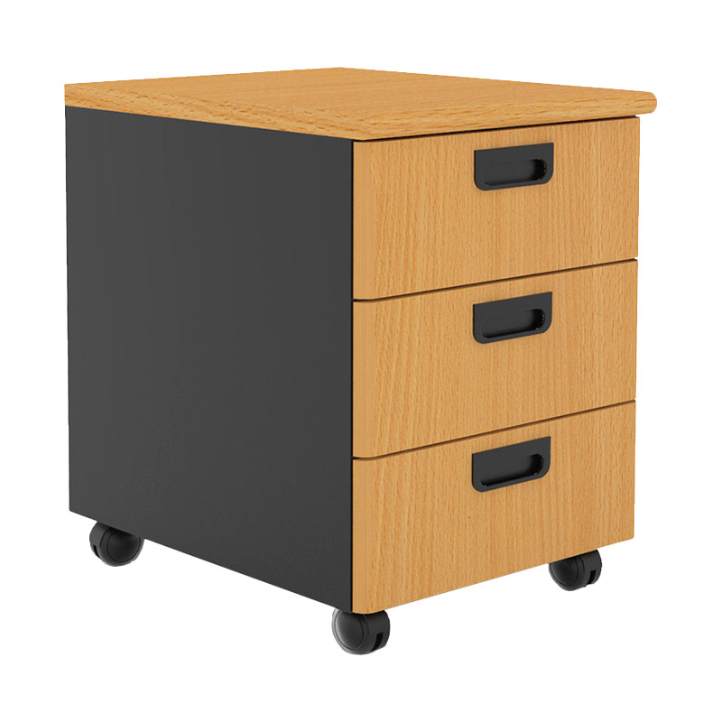 Prissilia Necro Trolley 3 Drawers Beech