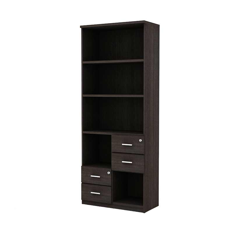 Prissilia Precise Bookcase Dark Oak Rak Buku