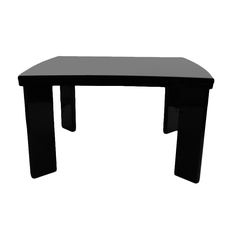 Prissilia ZigZag Table High Gloss Black Meja Ruang
