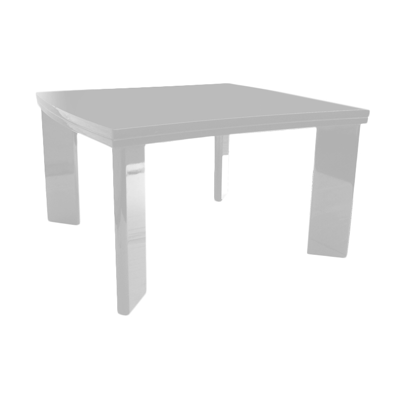 Prissilia ZigZag Table High Gloss White Meja Ruang