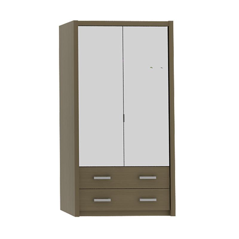 harga Pro Design Batavia Lemari Pakaian 2 Pintu Cermin Dan 2 Pintu - Home Oak -