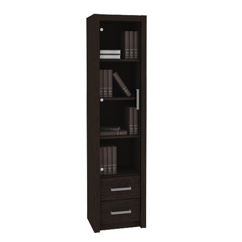 harga Pro Design Batavia Rak Buku Dengan 1 Pintu Kaca dan 2 Laci - Espresso -