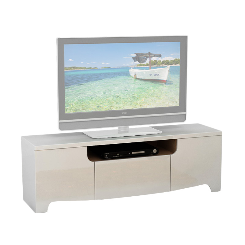 Pro Design Legia Rak TV - White Glossy - Linen - Khusus JAWA - BALI