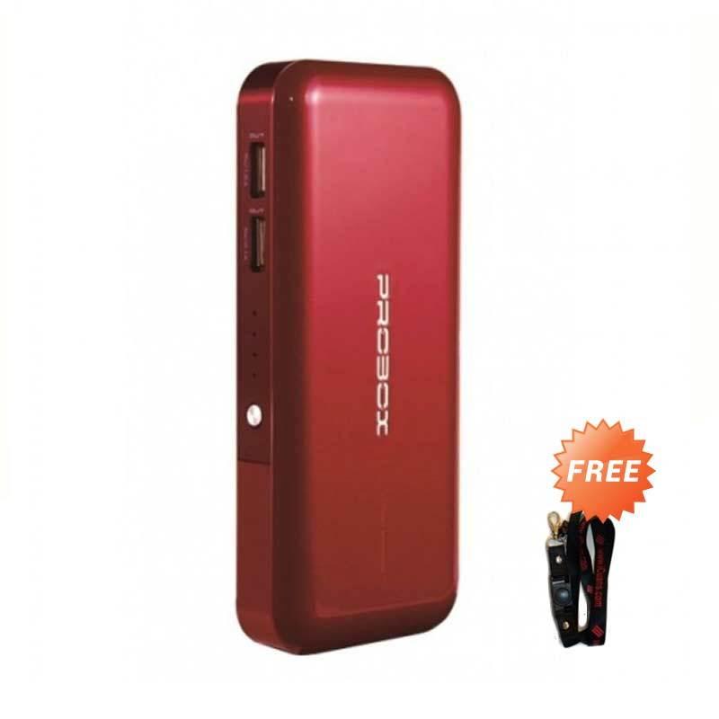 Probox HE3-10KU2 Red Power Bank [10400 mAh] + Lanyard