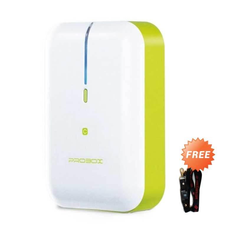 PROBOX HE6-52U1-C Green Power Bank [5200 mAh] + Lanyard
