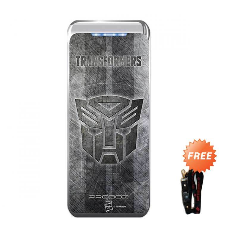 PROBOX Transformer 4 Logo Silver Power Bank [5200 mAh] + Lanyard
