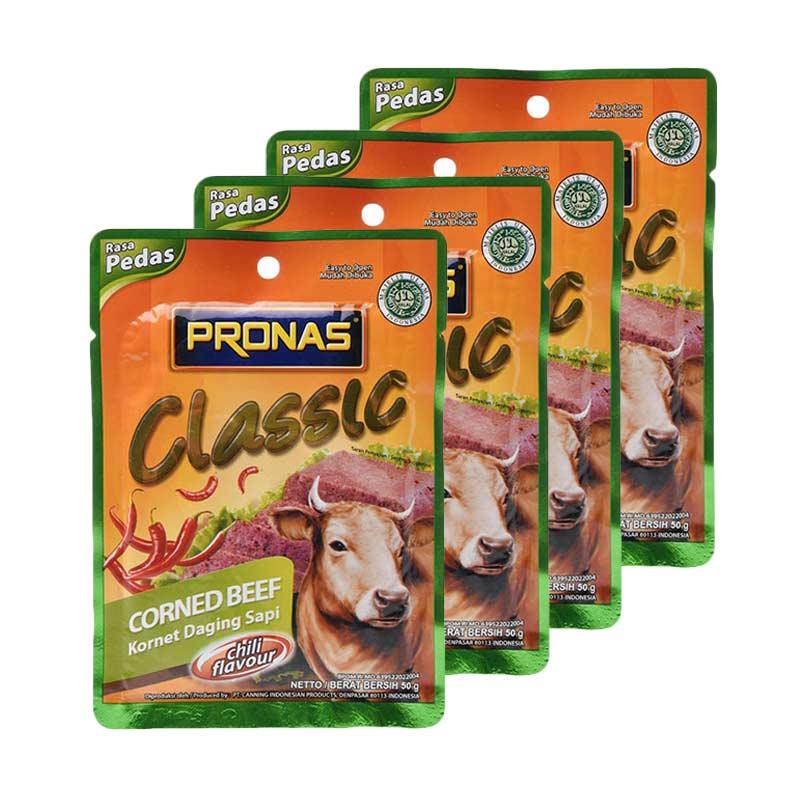 Pronas Classic Corned Beef Chili Sachet [50 g x 4 Pcs]