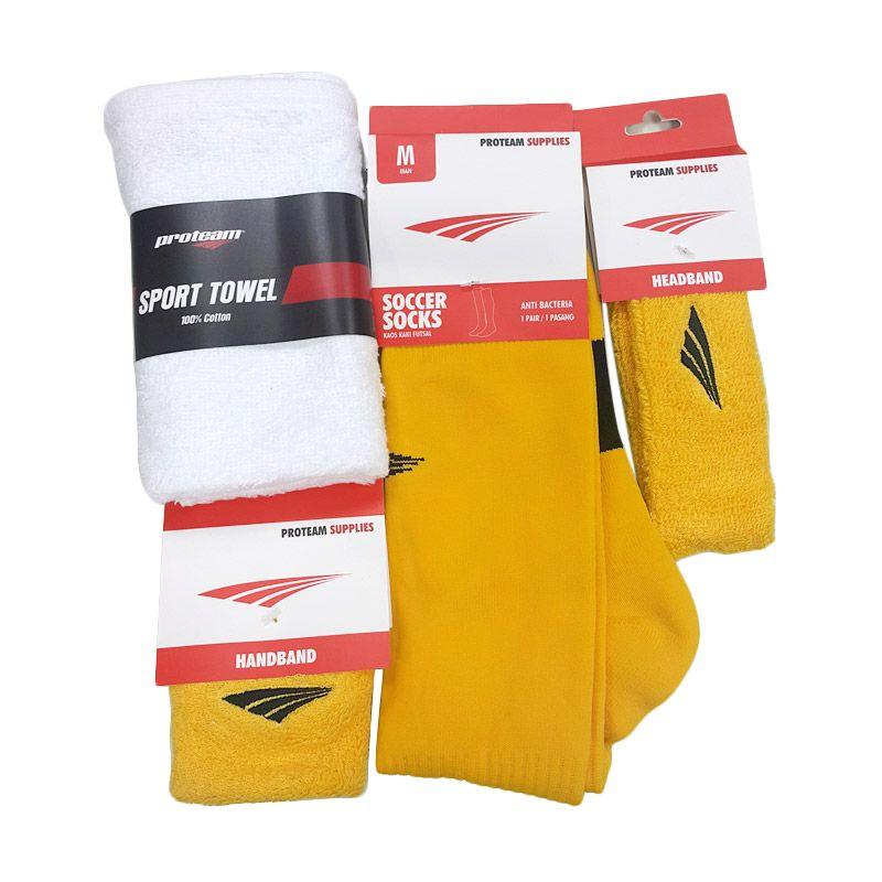 harga Proteam Banded Kuning Set Perlengkapan Olahraga [Sock Soccer/Towel/Handband/Headband] Blibli.com