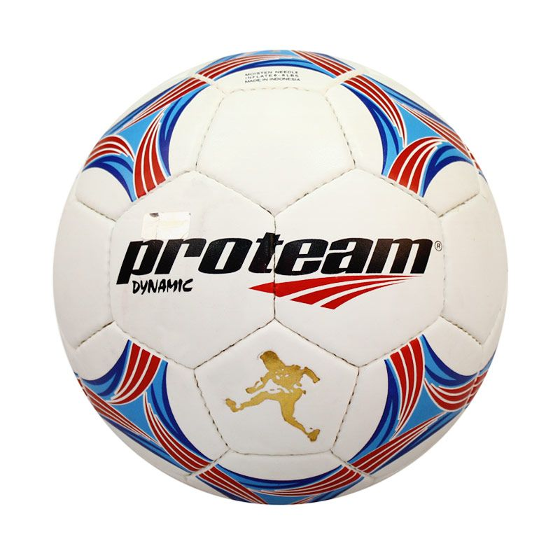 Proteam Dynamic Bola Sepak Blue Red Size 4