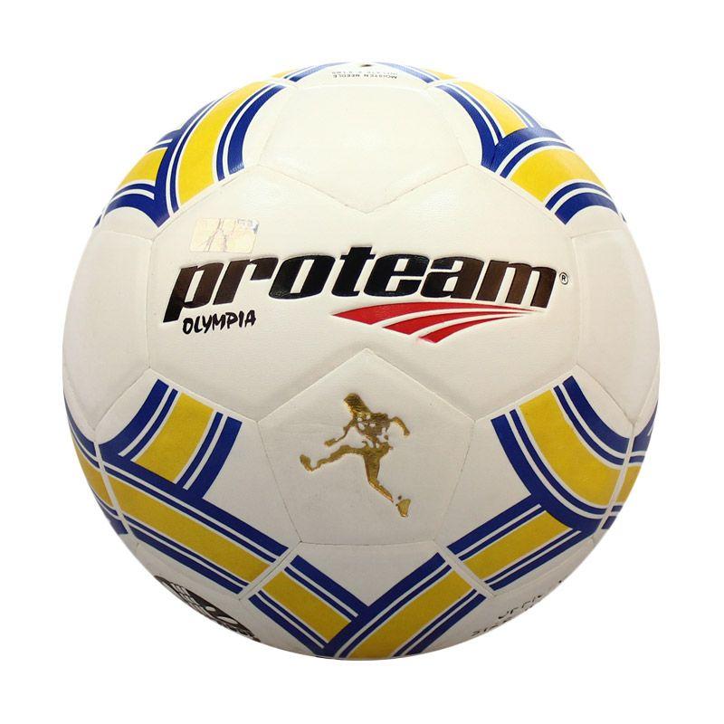 Proteam Olympia Biru Kuning Bola Sepak  size 4
