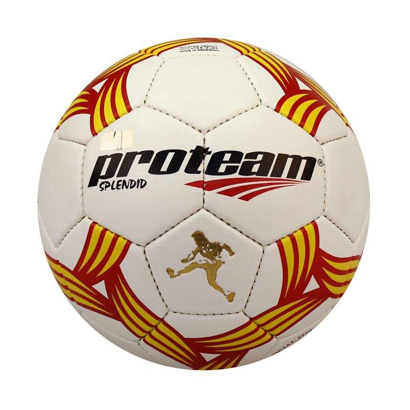 Proteam Splendid Bola Sepak Yellow-Red # 5