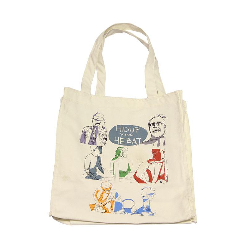 Musica Studios Nidji Tote Bag Hidup Yang Hebat Putih Merchandise