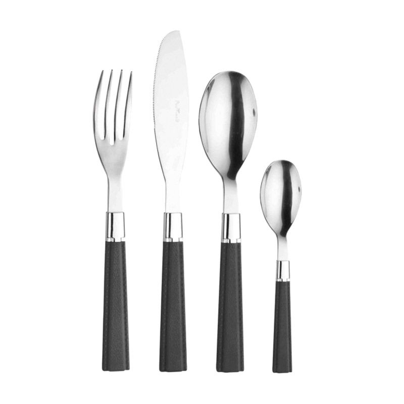 PINTINOX Velvet Black Cutlery Set Sendok & Garpu