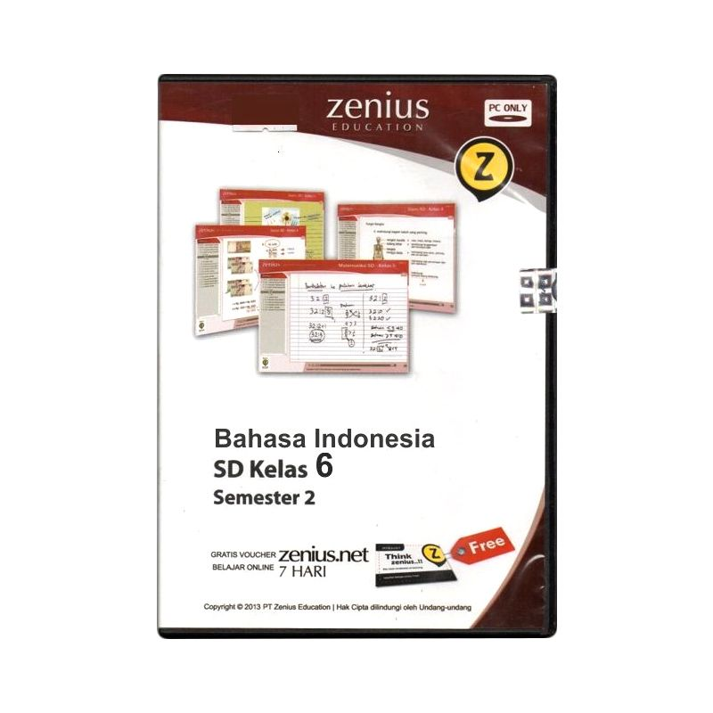 Zenius Multimedia Learning CD Software [Bahasa Indonesia Kelas 6 Semester 2]