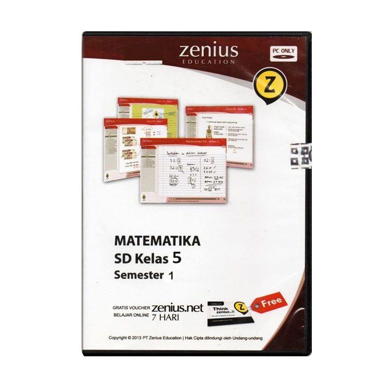 Zenius Multimedia Learning CD Software [Matematika Kelas 5 Semester 1]