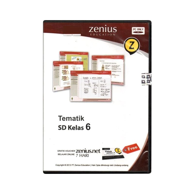 Zenius Multimedia Learning CD Software [Tematik Kelas 6]