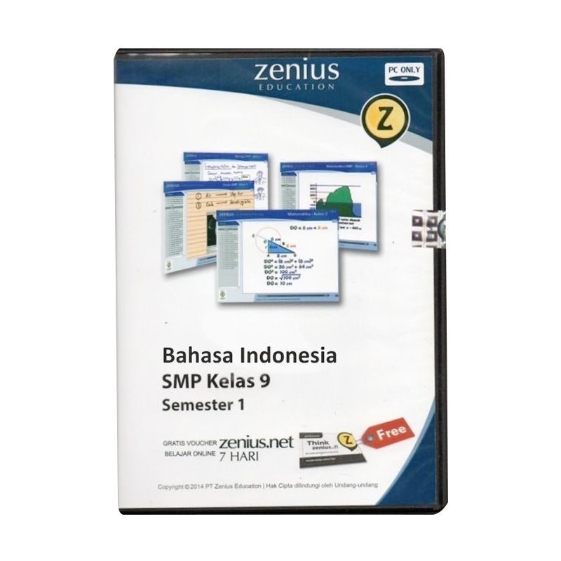 Zenius Multimedia Learning CD SMP Software [Bahasa Indonesia Kelas 9 Semester 1]