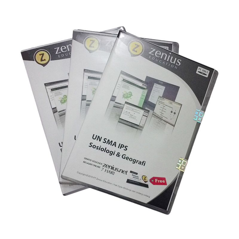 Zenius Multimedia Learning CD [UN SMA IPS] + Voucher Zenius.net 3 bulan