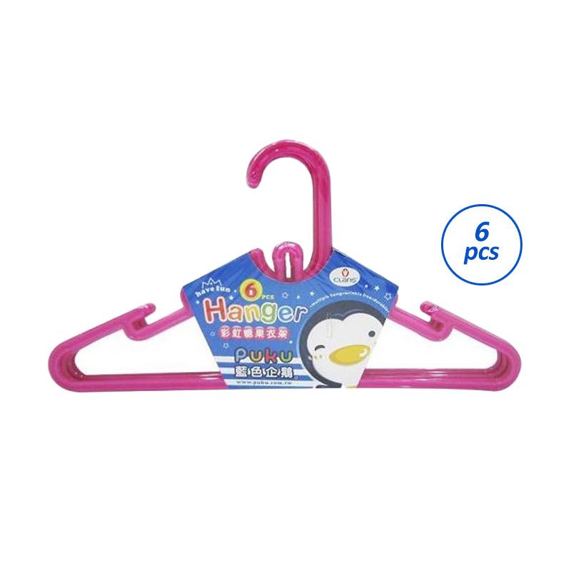 Puku Hanger Pink Gantungan Baju Anak [6 pcs]
