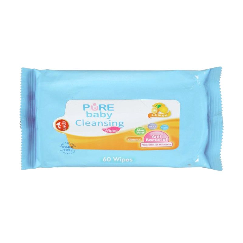 Pure Baby Cleansing Wipes Lemon 60's - 6559