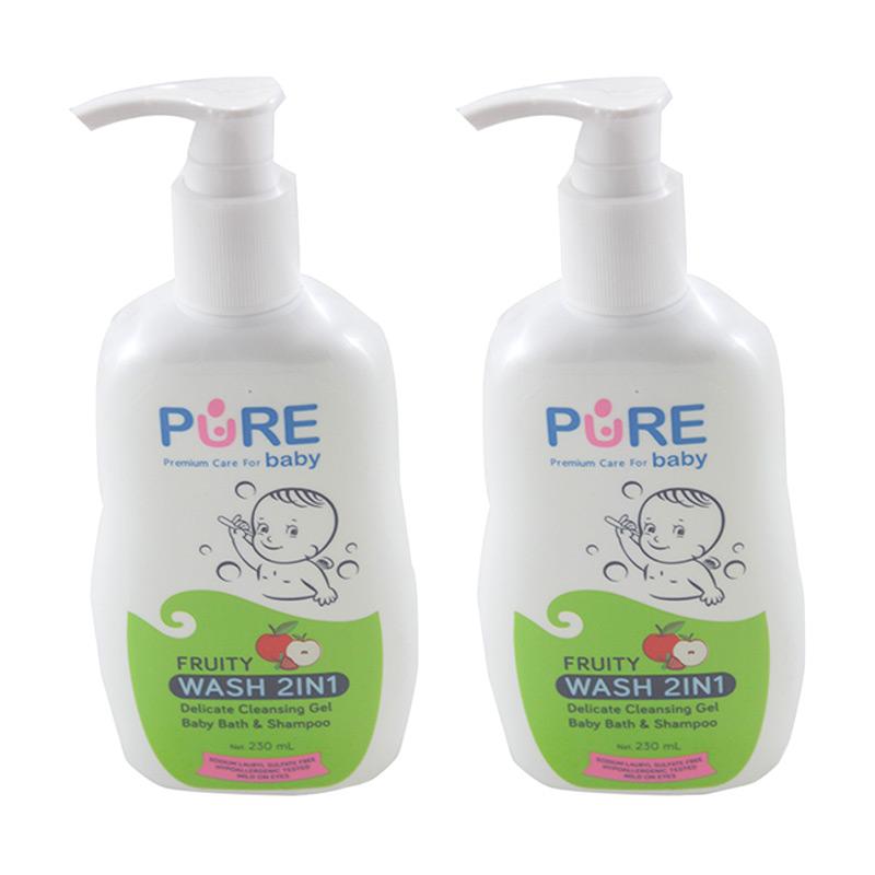 Purebaby Wash Fruity [230 mL/2 Pcs]