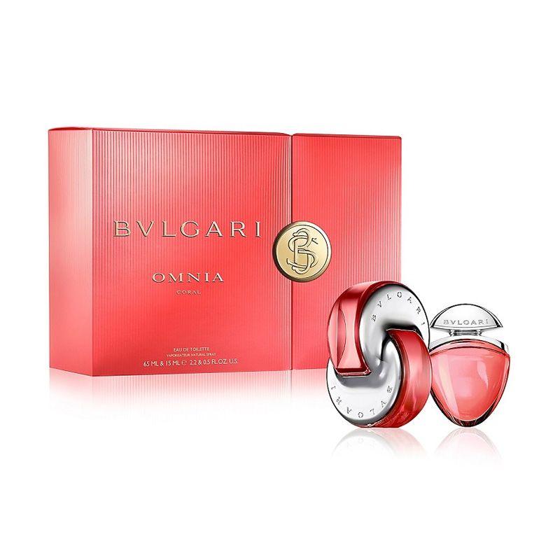 Bvlgari Omnia Coral EDT Parfum Wanita [Gift Set]