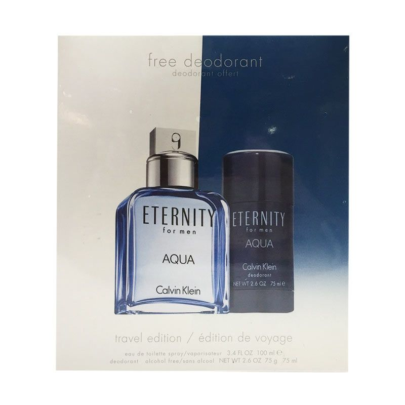 Calvin Klein Eternity Aqua EDT Parfum Pria [Gift Set]
