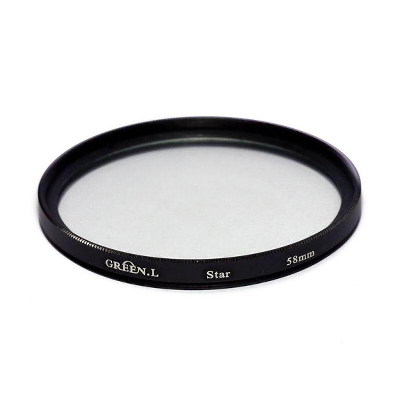 Green L Filter Star 6 58mm Filter Lensa