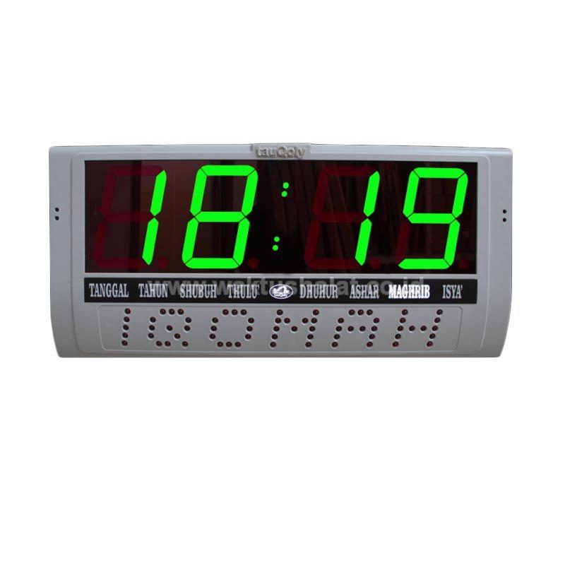 Putra Liniaji Digital Iqomah Hijau Remote Jam Waktu Shalat [4 Inch]