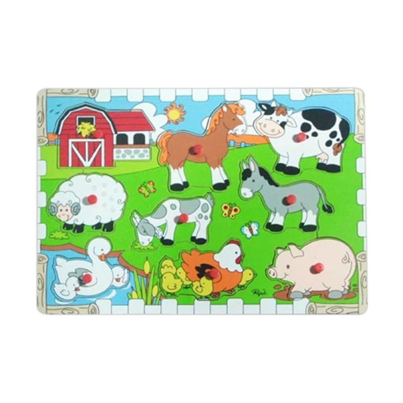 Puzzleku Medium Puzzle Farm Animals Mainan Anak
