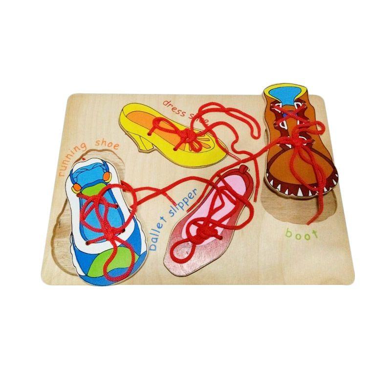 Puzzleku Puzzle Tali Sepatu Full Color Mainan Anak