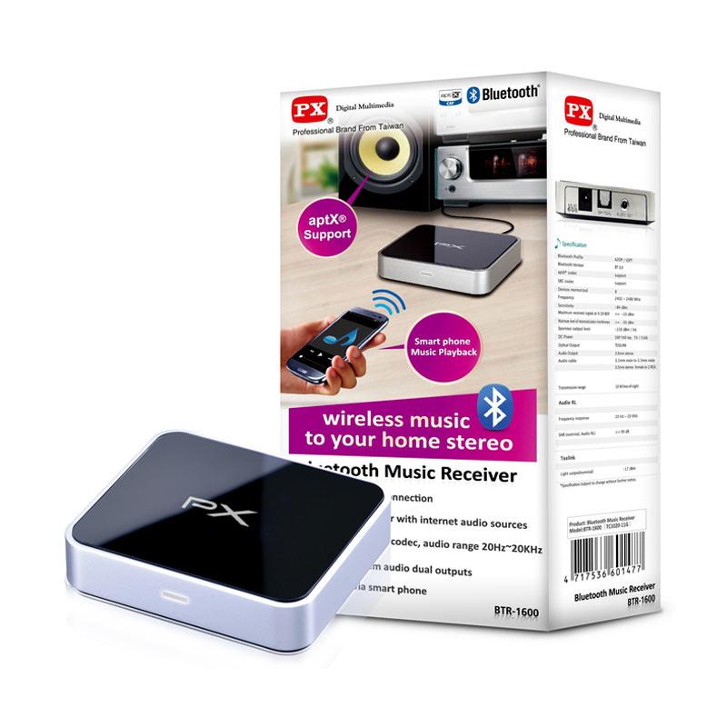 Jual PX Bluetooth Music Receiver BTR-1600 Online - Harga & Kualitas Terjamin | Miube.com
