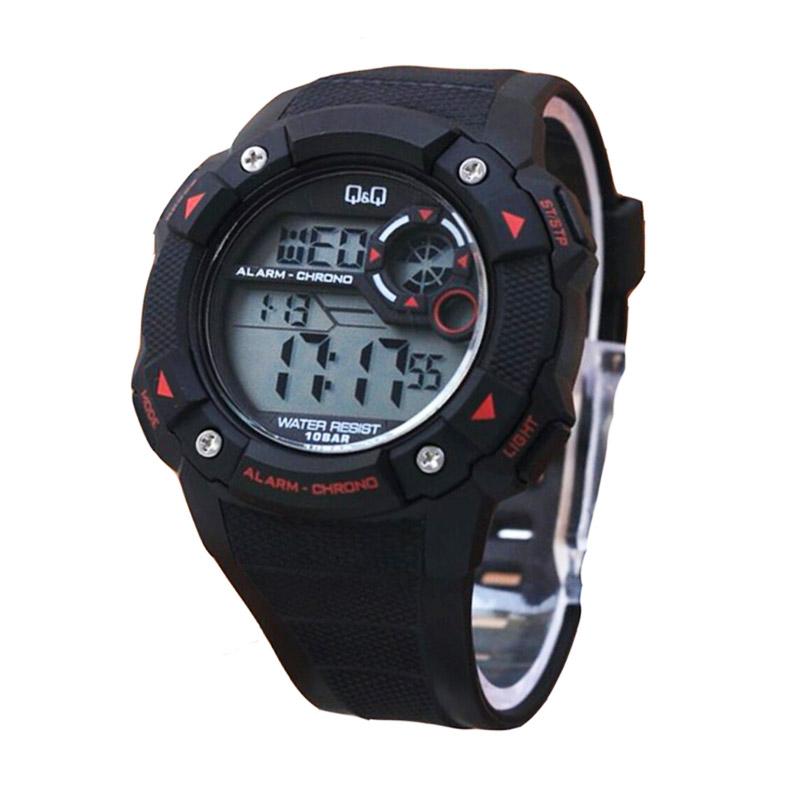 Q&Q M123BR Digital Watch Jam Tangan Pria - Black Red